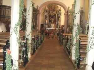 décor église erntedankfest 2015